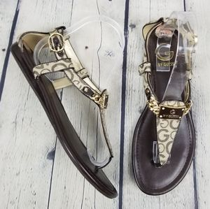 G BY GUESS | Jettson 2 thong flat t-strap sandals
